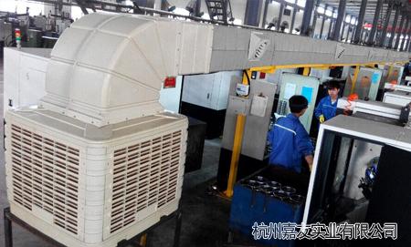 车间安装蒸发式冷风机