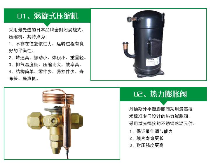 恒温恒湿机采用涡旋式压缩机