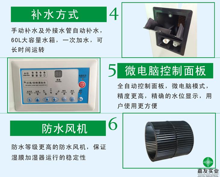 湿膜加湿器性能特点2.