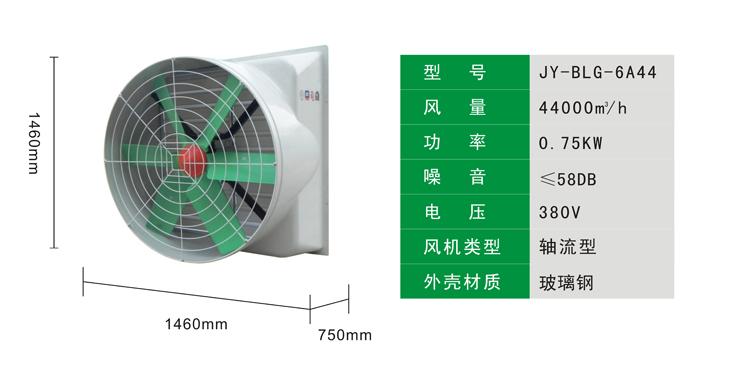 玻璃钢负压风机产品参数