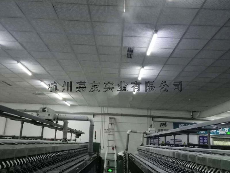 纺织车间高压微雾加湿器安装图