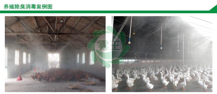 高压微雾加湿案例养殖行业