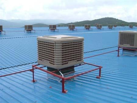 屋顶工业冷风机安装