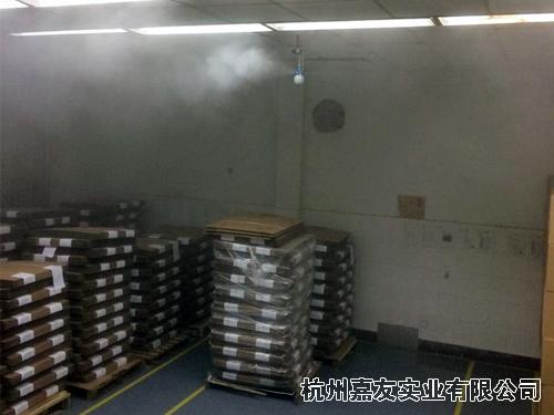 印刷车间安装干雾加湿器