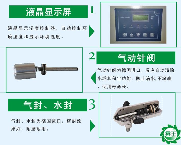 QS1气水加湿器特点1