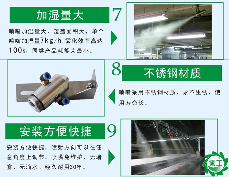QS1气水加湿器特点3